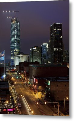 Okc Evening Metal Print by Ricky Barnard