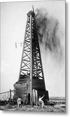 Oklahoma: Oil Well, C1922 Metal Print