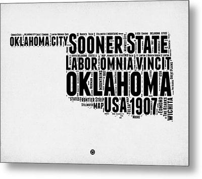 Oklahoma Word Cloud 2 Metal Print by Naxart Studio