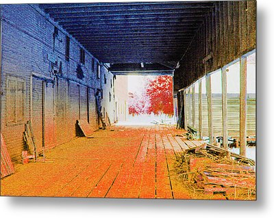 Old Abandoned And Forgotten Metal Print by Margaret Hood