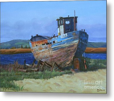 Old Abandoned Boat Metal Print
