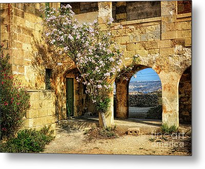 Old Abandoned Hospital In Comino Metal Print by Stephan Grixti