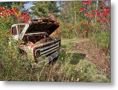 Metal Print featuring the photograph Old Abandoned Truck Newport New Hampshire by Edward Fielding
