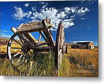 Old Abandoned Wagon, Bodie Ghost Town, California Metal Print