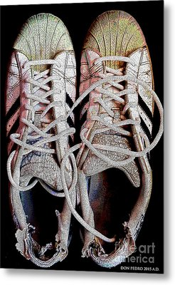 Metal Print featuring the photograph Old Adidas Supestar II by Don Pedro De Gracia