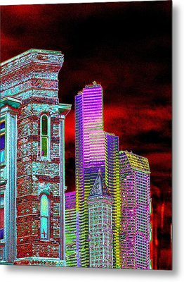 Old And New Seattle Metal Print by Tim Allen