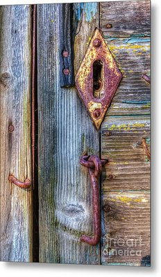 Old And Rusty Metal Print