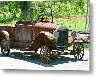 Old Antique Vehicle Metal Print by Douglas Barnett