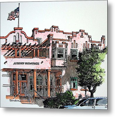 Metal Print featuring the painting Old Auburn Hotel by Terry Banderas