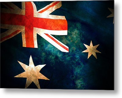 Old Australian Flag Metal Print by Phill Petrovic