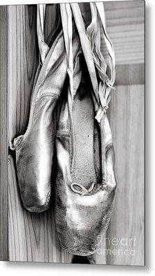 Old Ballet Shoes Metal Print