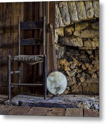 Old Banjo Metal Print by Heather Applegate