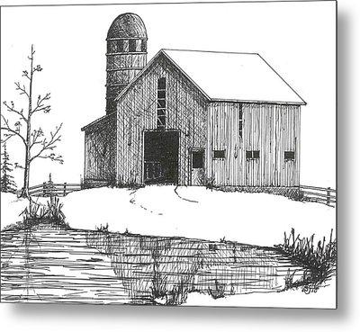 Old Barn 1 Metal Print by BJ Shine