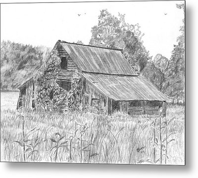 Old Barn 4 Metal Print by Barry Jones