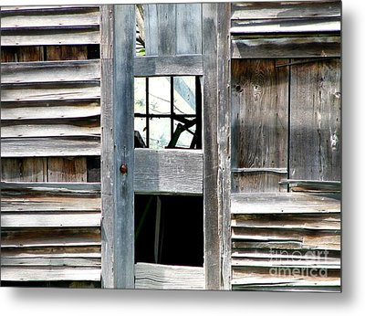 Old Barn Closeup Metal Print