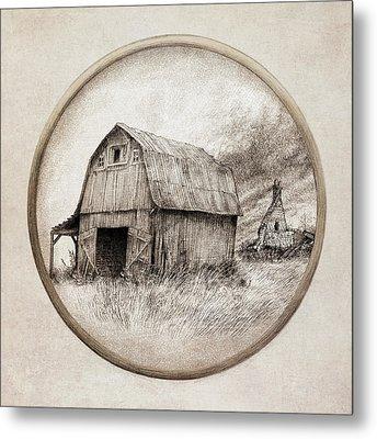 Old Barn Metal Print by Eric Fan