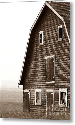 Old Barn Front Metal Print by Mario Brenes Simon