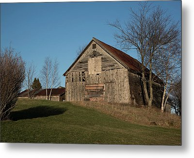 Old Barn On A Hill Metal Print