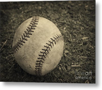 Old Baseball Metal Print by Edward Fielding