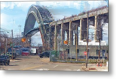 Old Bayonne Bridge Metal Print by Rod Pena
