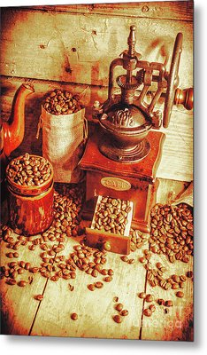 Old Bean Mill Decor. Kitchen Art Metal Print