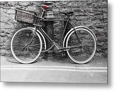 Old Bicycle Metal Print by Helen Northcott