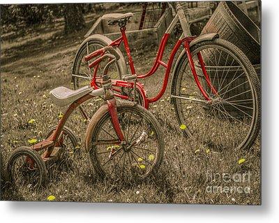 Old Bikes For Sale Metal Print