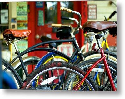 Old Bikes Metal Print by John Gusky