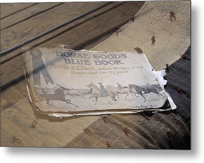 Metal Print featuring the photograph Old Blue Book by Viktor Savchenko