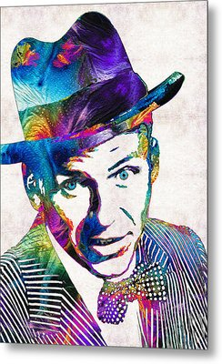 Old Blue Eyes - Frank Sinatra Tribute Metal Print by Sharon Cummings