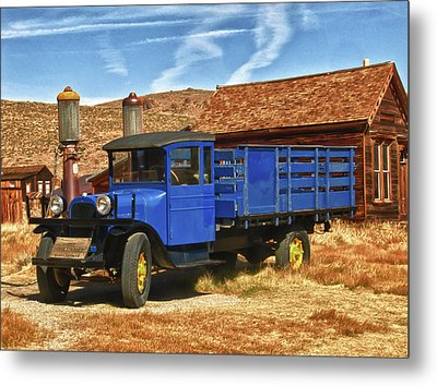 Old Blue 1927 Dodge Truck Bodie State Park Metal Print by James Hammond