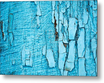 Metal Print featuring the photograph Old Blue Wood by John Williams
