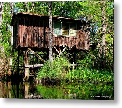 Metal Print featuring the photograph Old Boat House by Barbara Bowen