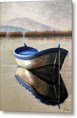 Old Boat Metal Print by Janet King