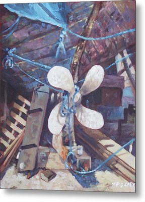 Old Boat Propeller Metal Print by Martin Davey
