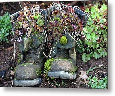 Old Boots New Purpose Metal Print by Kami McKeon