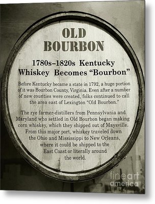 Old Bourbon Metal Print by Mel Steinhauer