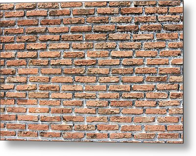 Metal Print featuring the photograph Old Brick Wall by Jingjits Photography