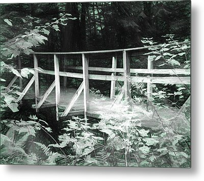 Old Bridge In The Woods Metal Print