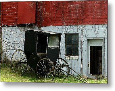 Old Buggy Metal Print by Joyce Kimble Smith