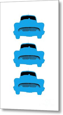 Old Buicks Blue Times Three Metal Print