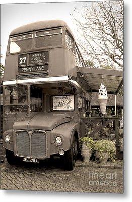 Old Bus Cafe Metal Print by Eena Bo