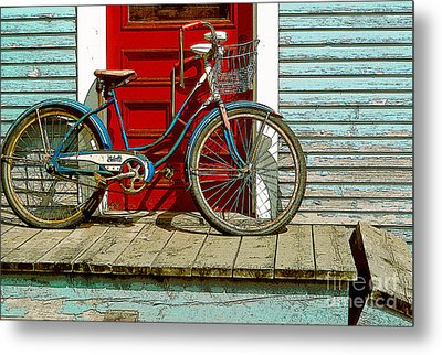 Old Bicycle. Warren, Vermont Metal Print