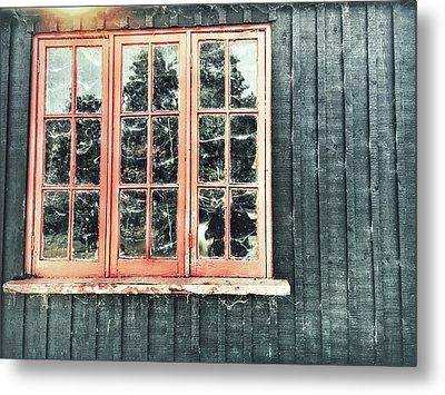 Old Cabin Window Metal Print by Tom Gowanlock