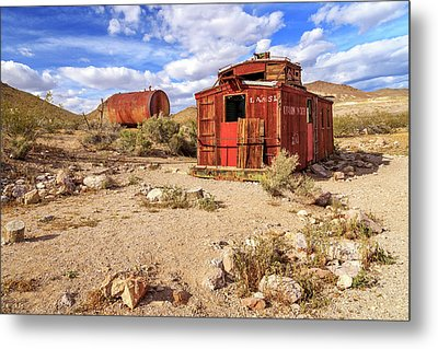 Metal Print featuring the photograph Old Caboose At Rhyolite by James Eddy