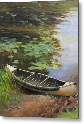 Old Canoe Metal Print by Anna Rose Bain