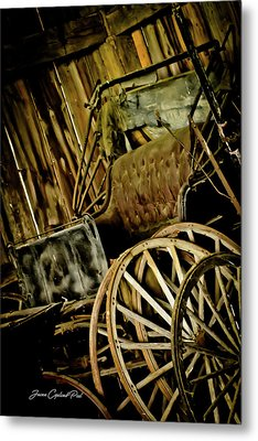 Metal Print featuring the photograph Old Carriage by Joann Copeland-Paul
