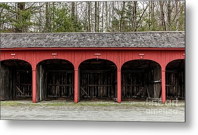 Old Carriage Shed Lyme New Hampshire Metal Print by Edward Fielding
