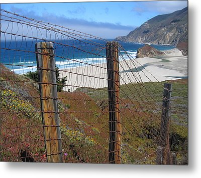 Metal Print featuring the photograph Old Cattle Ranch In Big Sur by Don Struke