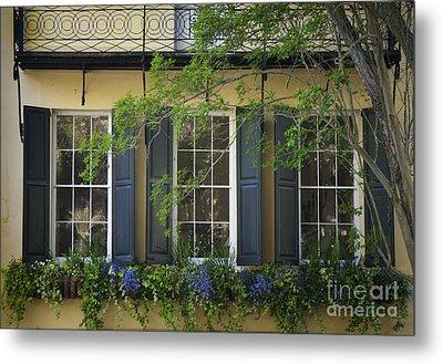 Old Charleston Window  Metal Print
